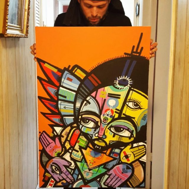 Original canvas by rasterms37 sold to a private collector inhellip
