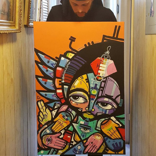 Part 2 Original Angel Canvas by rasterms37 Available Piece Rarehellip