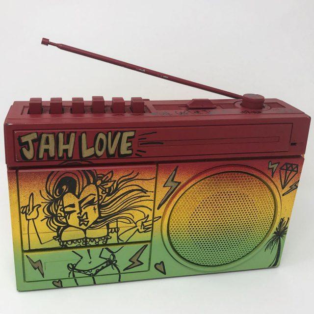 Vintage 80s Boombox CustomPainted by delvs102 Available Inna Ragga Stylehellip