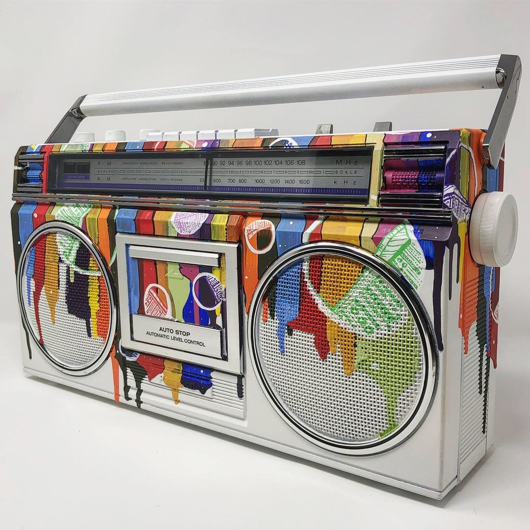Rainbow Bubbles #23 Boombox – SOLD